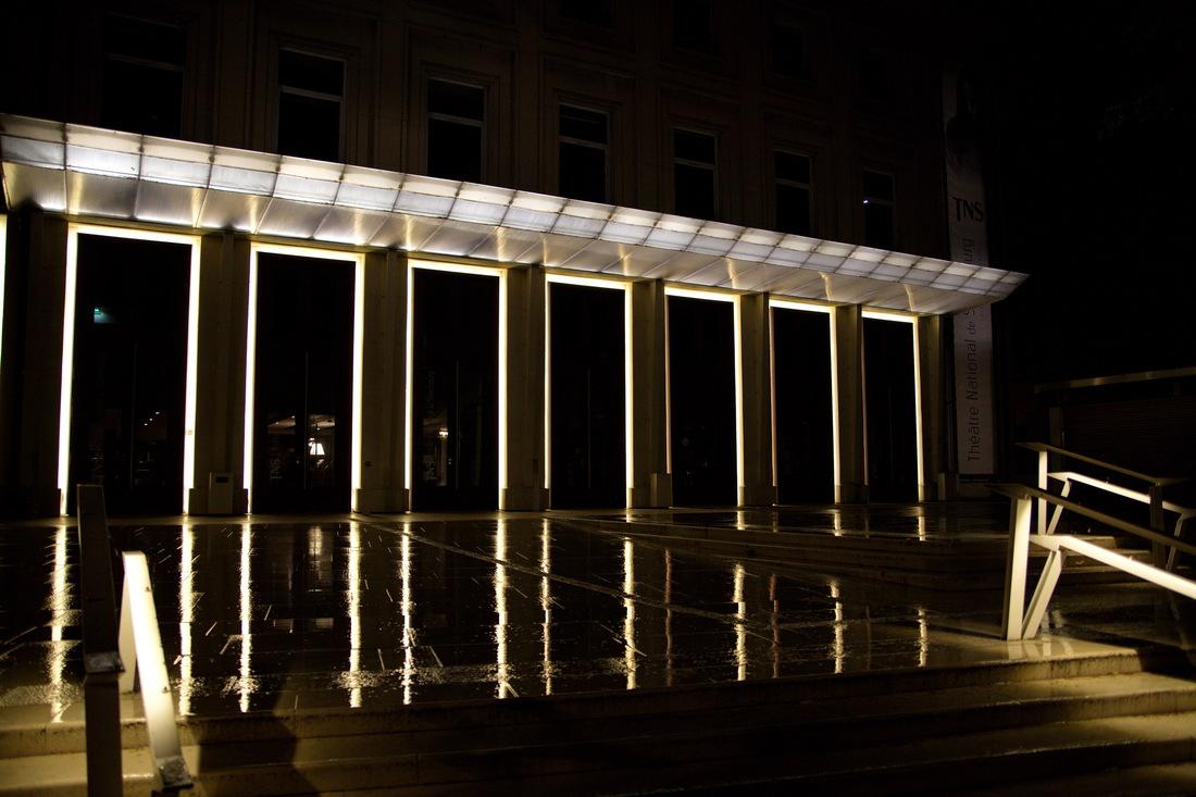 Strasbourg, strasbourg nuit; strasbourg nocturne; jeux de lumière, théâtre strasbourg