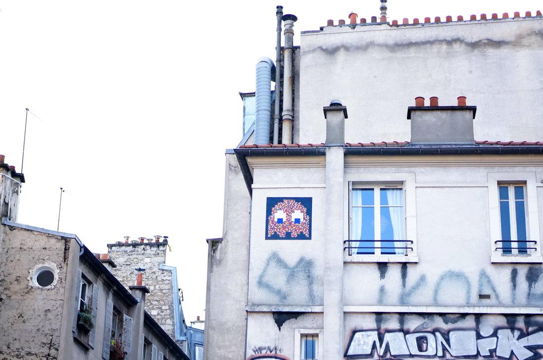 space invader, space invaders, montmatre, street art, street art paris