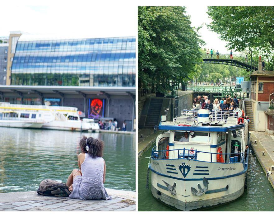 bassin de la villette, mk2 quai de loire, bateau paris, canal saint-martin, le martin pêcheur, canal de l'ourcq