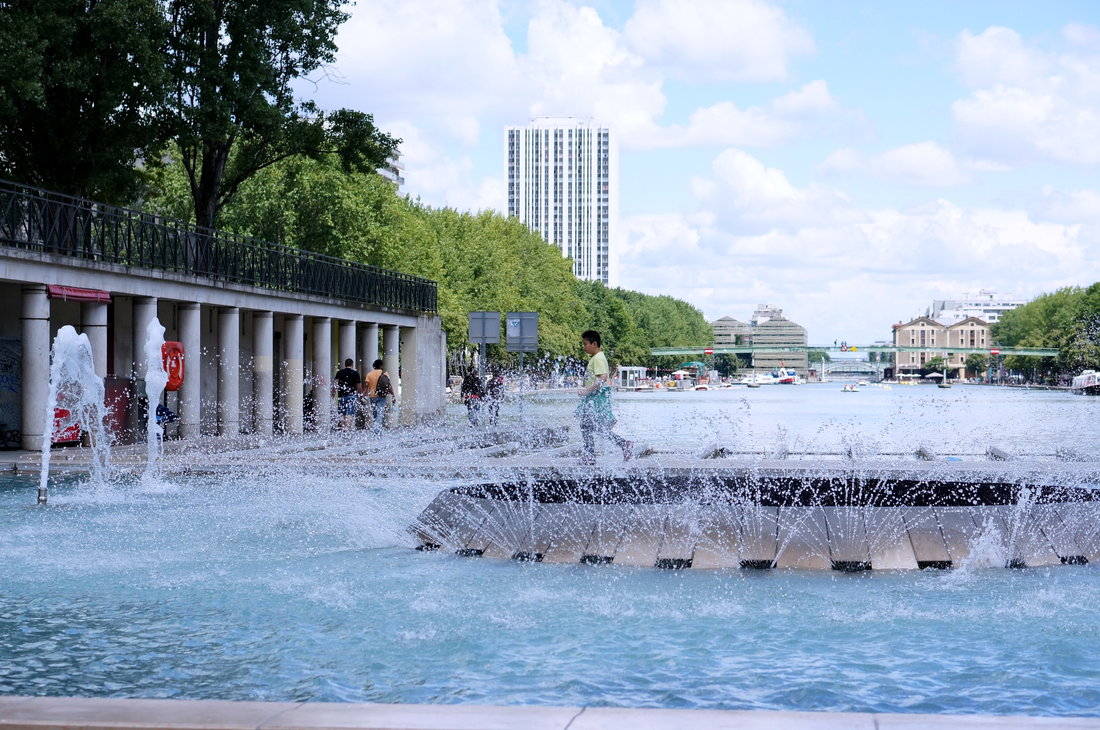 bassin de la villette, fontaine paris