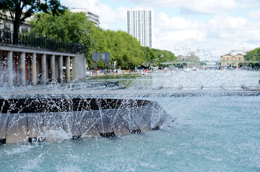 bassin villette, fontaine paris