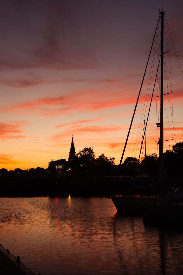 coucher de soleil, sunset, reflections, reflets, la rochelle, vieux-port
