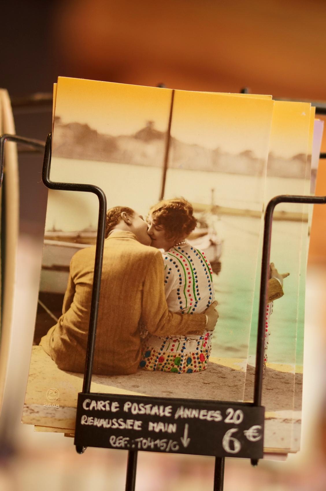 carte postale rétro, kitsch, tombées du camion, puces de saint-ouen