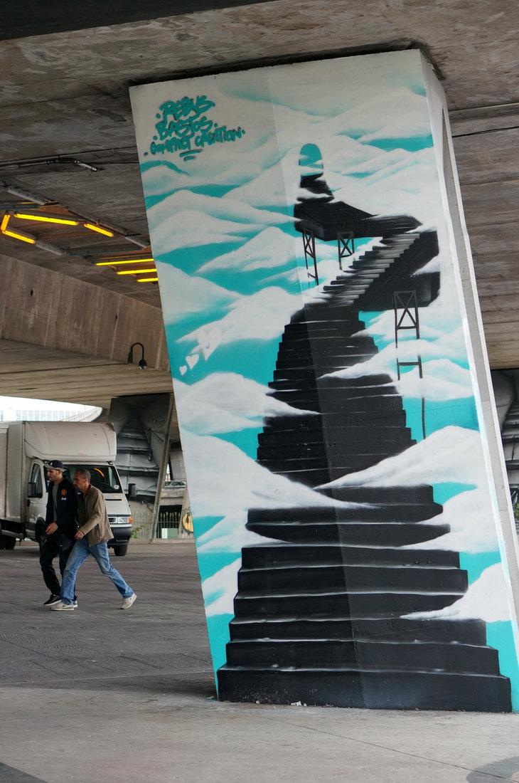 street art avenue, street art, saint-denis, Rébus, bastos