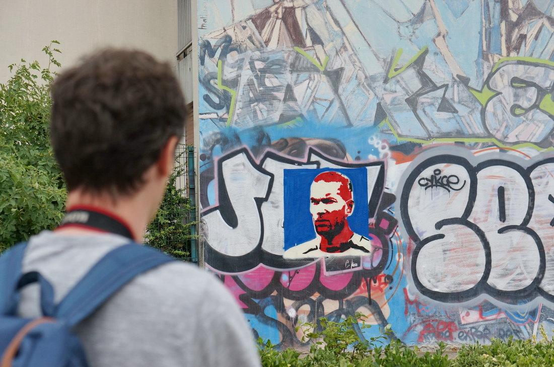 street art, street art avenue, zidane, street art zidane, graffiti zidane, saint-denis
