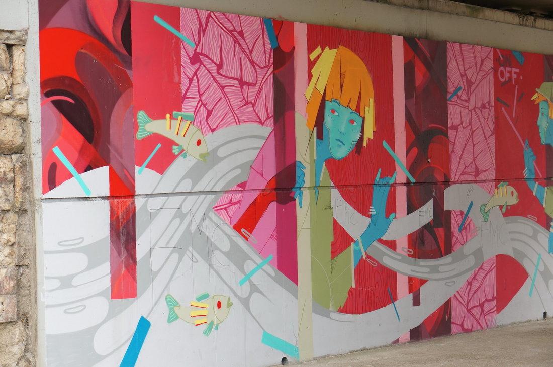Au fil de l'eau, OnOff Collectif, street art, street art avenue, saint-denis