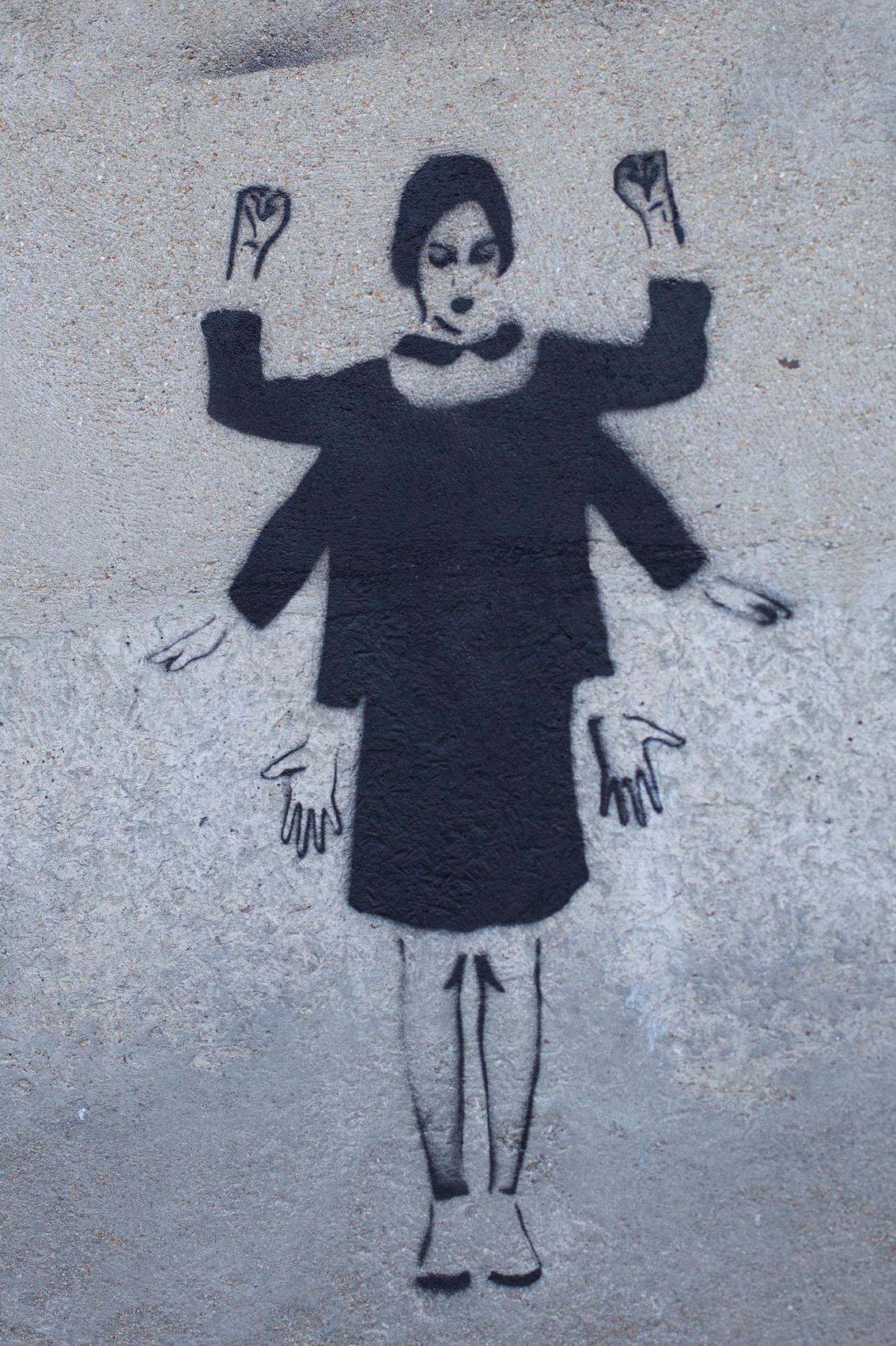 grand train, street art, street art paris, paris underground, paris industriel, miss tic, jain, jain pochoir