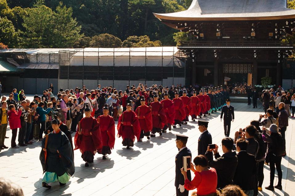 meiji-jingu, yoyogi, tokyo city guide, tokyo, japan trip, voyage au japon, sanctuaire meiju-jingu, cérémonie 3 novembre