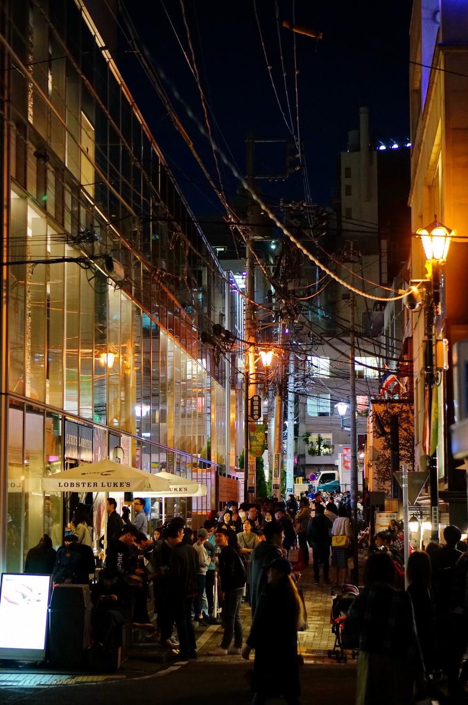shibuya, tokyo by night, tokyo nuit, cat's street, lobsters luke