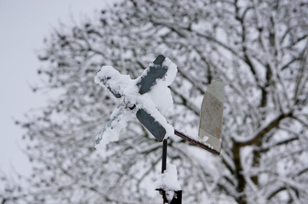 neige, hiver en auvergne, auvergne, allier, girouette