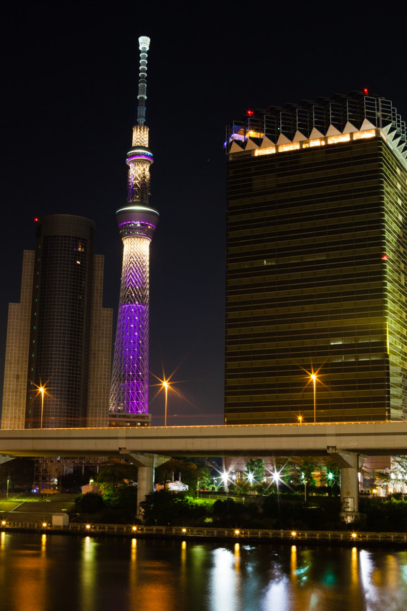 tokyo skytree, tokyo nocturne, tokyo by night, asakusa, philippe starck