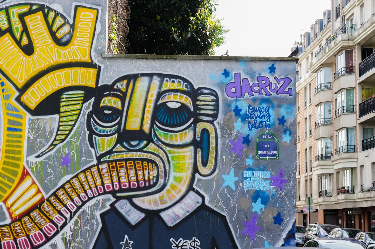 street art paris, paris art urbain, urban art, paris 19, rue de l'ourcq, DaCruz
