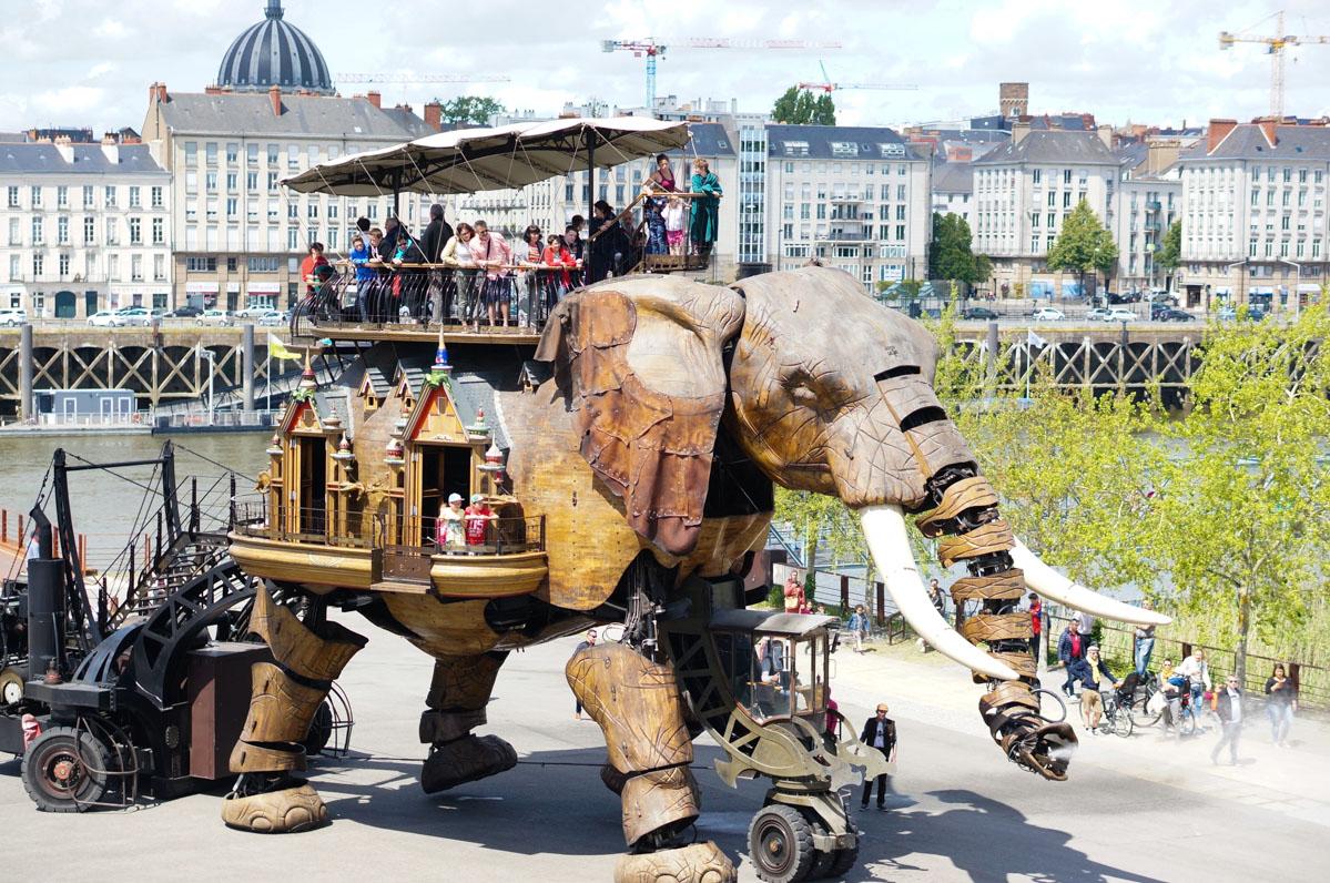 machines de l'île, nantes, machines de l'ile de nantes, éléphant de nantes, éléphant mécanique