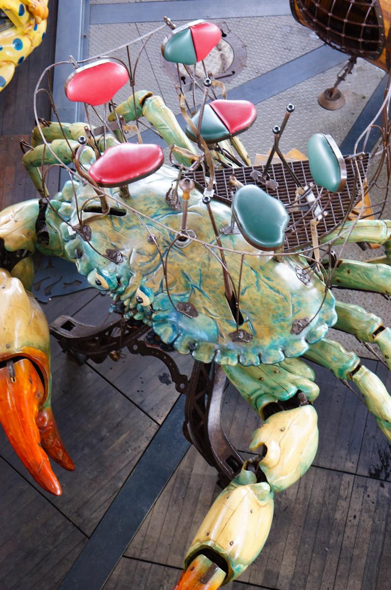 machines de l'île, nantes, machines de l'ile de nantes, carrousel des mondes marins, crabe mécanique