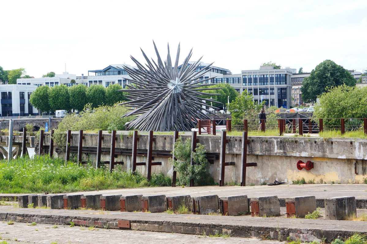 quai des antilles, oeuvre d'art contemporain, art contemporain, nantes