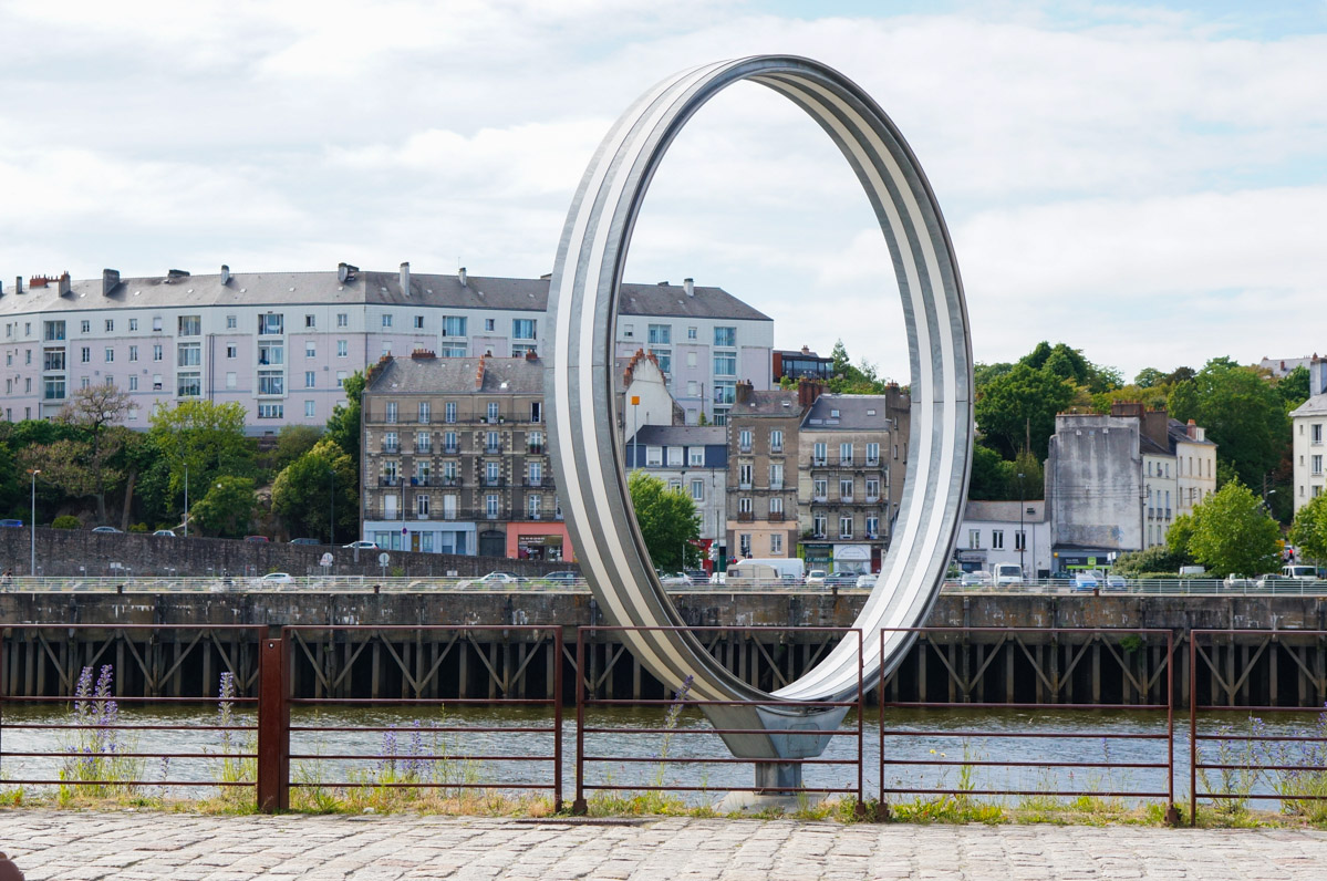 anneaux daniel buren, estuaire, art contemporain, quai des antilles