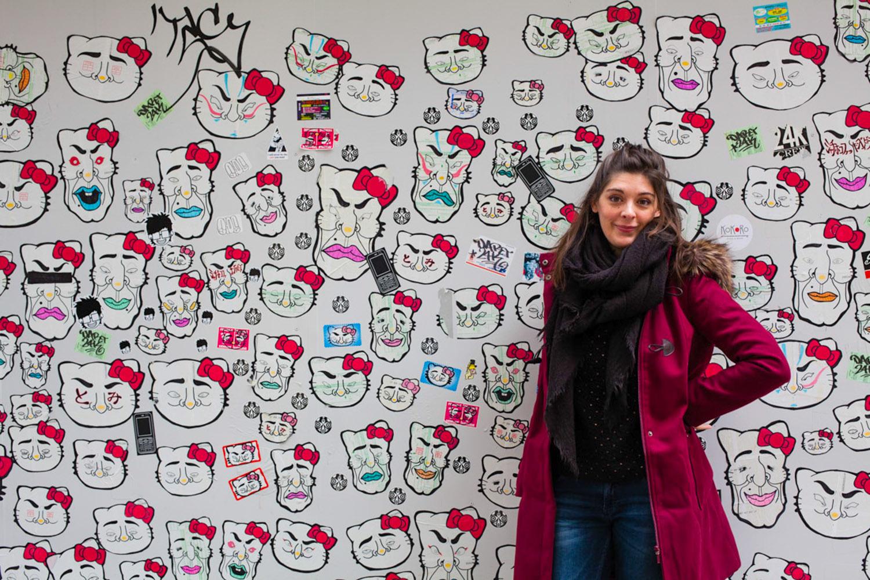 shinjuku, hello kitty, street art japan, street art tokyo, street art japon