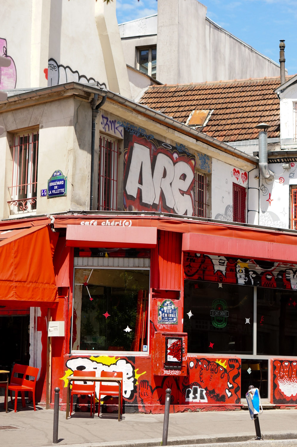 café chéri, rue rébeval, paris, bar paris 20, bar paris 10; bar 75020, bar 75010