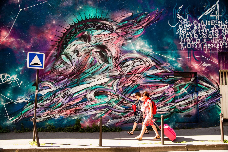 street art hopare, street art rue des maronites, street art paris, street art paris 20, street art, art urbain paris, muralist