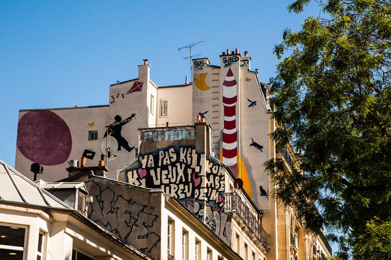 street art rue de ménilmontant, street art paris 20, street art paris, street art, urban art, nemo, street artist nemo
