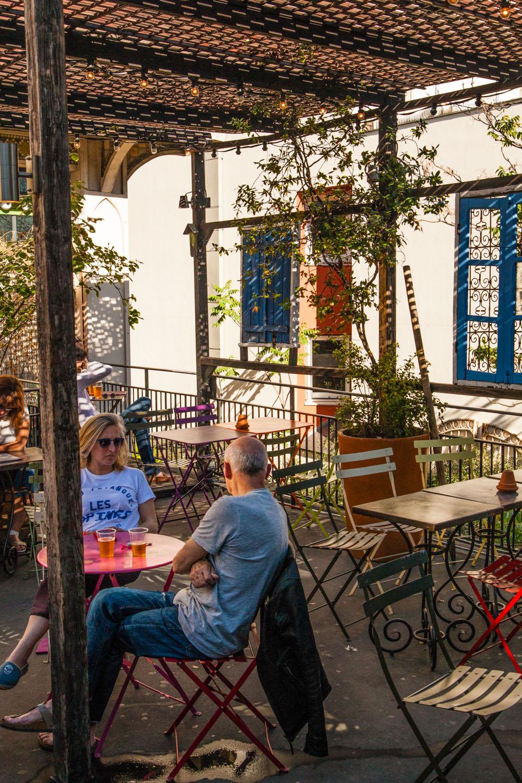la bellevilloise, bar paris 20, bar 75020, terrasse paris, terrasse parisienne, terrasse paris calme, terrasse 75020