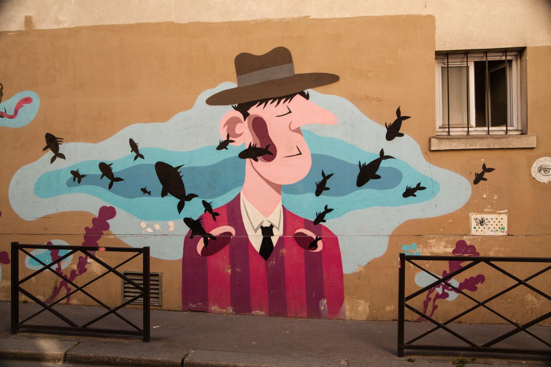 mister pee, rue du retrait, street art mister pee, street art 75020, street art paris 20