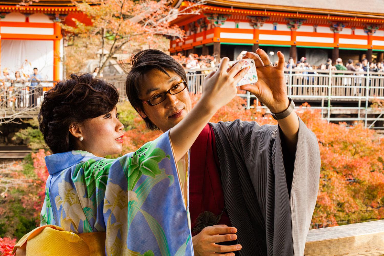 kiyomizu-temple, temple kiyomizu, kyoto, selfie kyoto