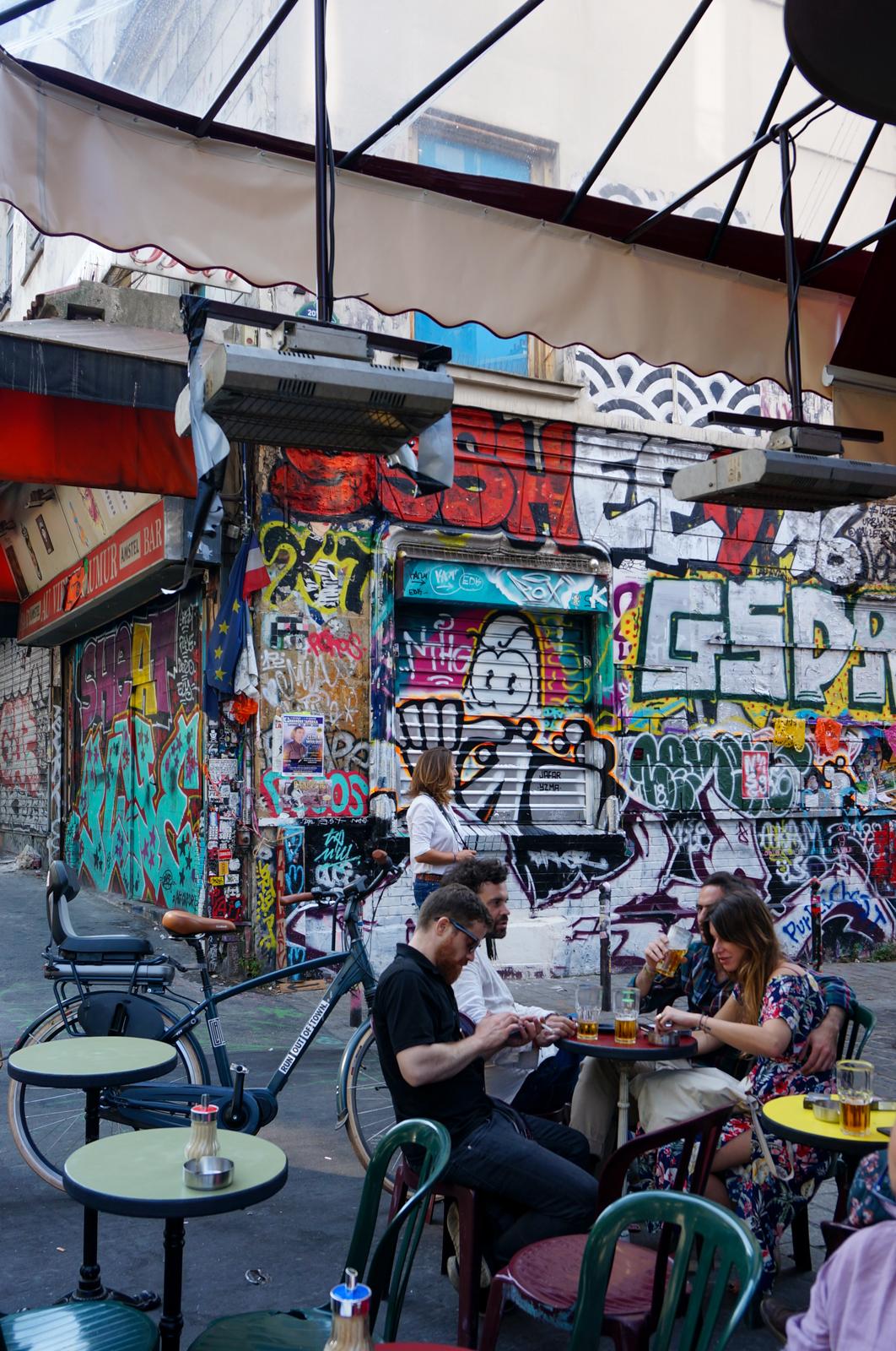 belleville quartier en bouteille, belleville, rue dénoyez, urban art paris, graffitti paris, paris authentique, paris populaire, paris original