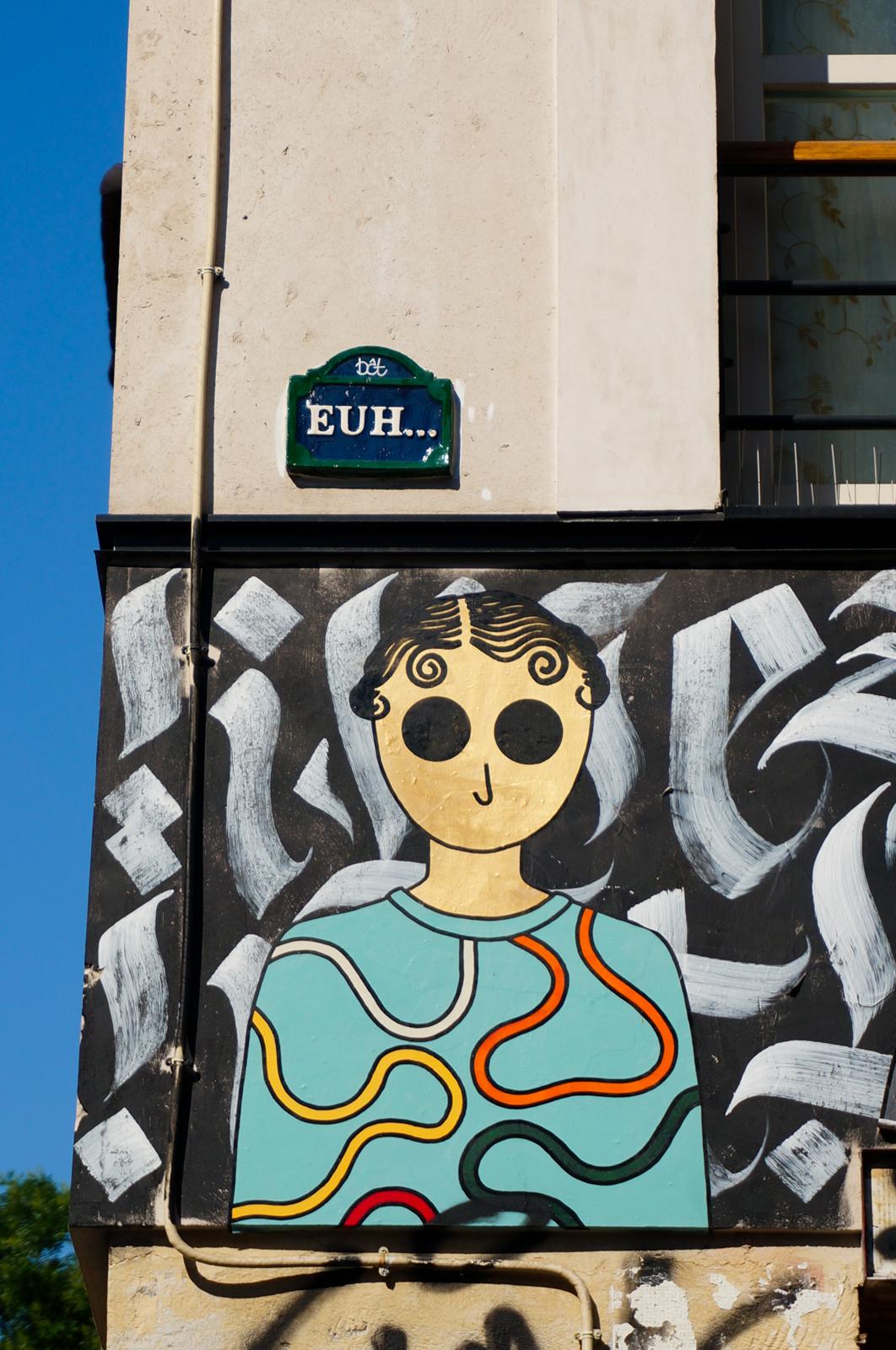 Kamlaurene, belleville quartier en bouteille, belleville, rue dénoyez, urban art paris, graffitti paris, paris authentique, paris populaire, paris original