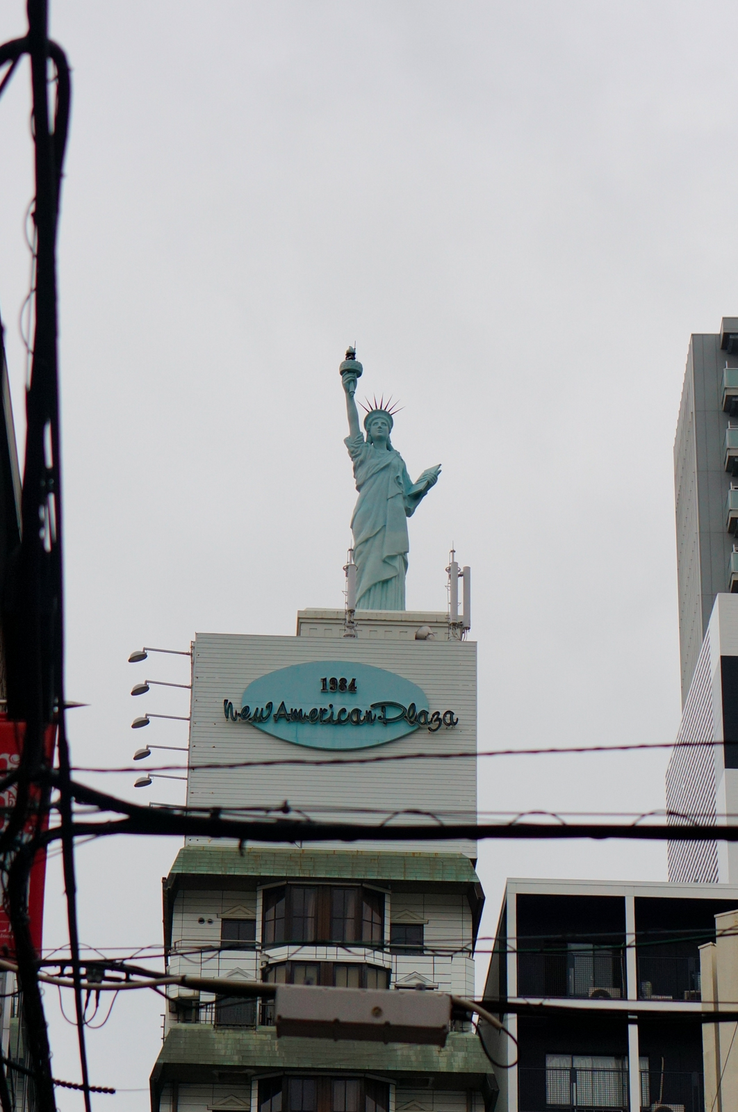 osaka, voyage japon, visiter osaka, osaka authentique, osaka america mura, village américain osaka, america mura, statue liberté osaka