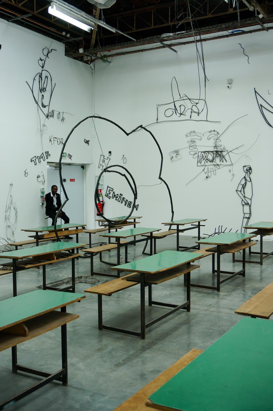 Abetare, Petrit Halilaj, Encore un jour banane pour le poisson-rêve, palais de tokyo, enfance palais tokyo