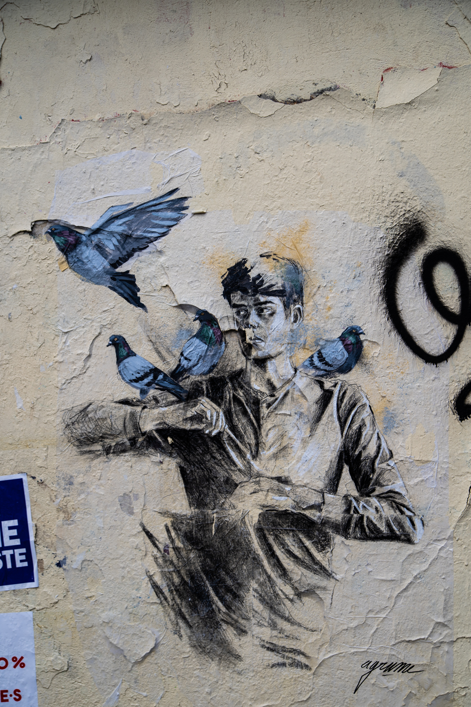 agrume street art, agrume street artist, paris 20e, balade paris 20, circuit paris 20, petite ceinture paris 20