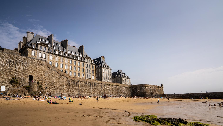 saint-malo, tourisme bretagne, visiter bretagne, visiter saint-malo, idée balade saint-malo, plage bretagne, plage môle, plage mole